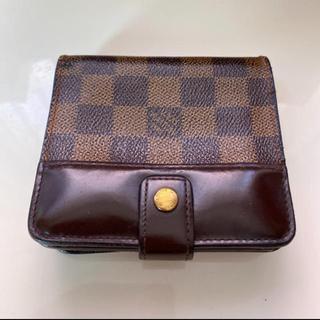 LOUIS VUITTON - 正規品ルイヴィトンコンパクトジップ ダミエ折財布