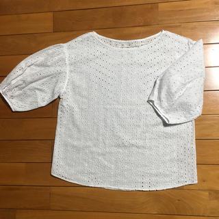 ジーユー(GU)のブラウス チュニック 白 7分袖 GU 春 夏(シャツ/ブラウス(長袖/七分))