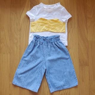 シマムラ(しまむら)のビスチェ風Tシャツ、ワイドパンツセット(Tシャツ/カットソー)
