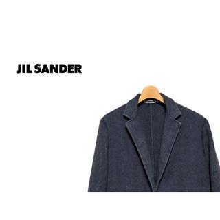 ジルサンダー(Jil Sander)のJIL SANDER ヘリンボーン チェスターコート / ジルサンダー ウール(チェスターコート)