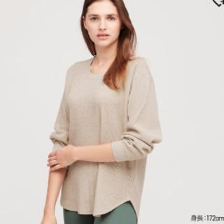 UNIQLO - ユニクロ ワッフルオーバーサイズ Tシャツ
