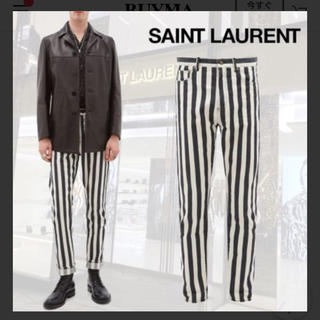 Saint Laurent - サンローラン ストライプ パンツ デニム 美品 希少 シャツ ジャケット