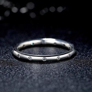 スワロフスキー(SWAROVSKI)の14粒 スワロフスキージルコニアリング(シルバー)(リング(指輪))