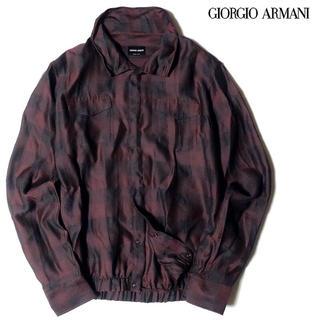 ジョルジオアルマーニ(Giorgio Armani)の新品 GIORGIO ARMANI アルマーニ チェック柄 シャツ ブルゾン(ブルゾン)