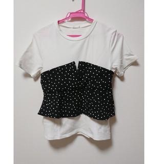 ジーユー(GU)のGU☆半袖ドット柄シャツ(シャツ/ブラウス(半袖/袖なし))