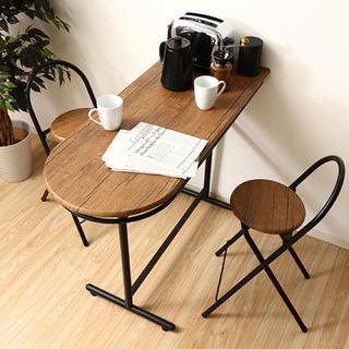 カウンターテーブル×1・チェア×2 3点セット(バーテーブル/カウンターテーブル)