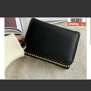 シマムラ(しまむら)の新品☆しまむら MUMU スタッズミニ財布 ブラック(財布)