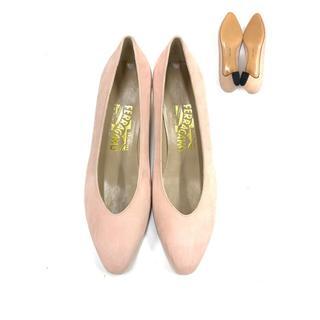 サルヴァトーレフェラガモ(Salvatore Ferragamo)の美品!フェラガモ SalvatoreFerragamoパンプス8D ヌバック 靴(ハイヒール/パンプス)