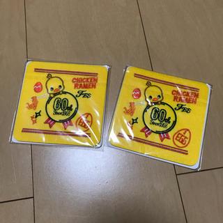 ニッシンショクヒン(日清食品)のチキンラーメン60th記念コースター(ノベルティグッズ)