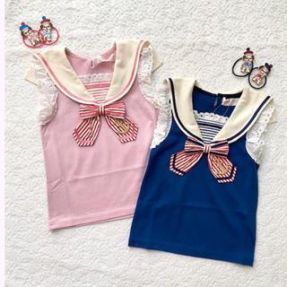 シャーリーテンプル(Shirley Temple)の新品 シャーリーテンプル セーラーリボン プルオーバー 110(Tシャツ/カットソー)