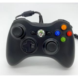 エックスボックス360(Xbox360)のマイクロソフト ゲームコントローラー 有線 ブラック Xbox360(その他)