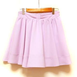 nohea(ノヘア)ラベンダーリボンフレアスカートパンツ スカパン Mサイズ