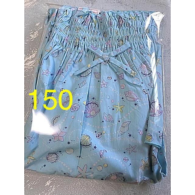 motherways(マザウェイズ)のマザウェイズ ワンピース 150 シェル 貝殻 水色 キッズ/ベビー/マタニティのキッズ服女の子用(90cm~)(ワンピース)の商品写真