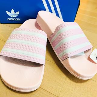 adidas - 激レア完売品 adilette ライトピンク色