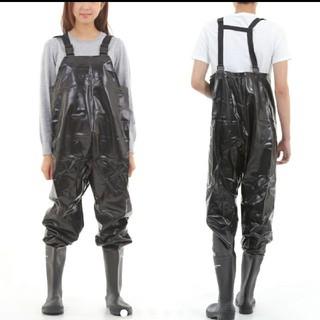 新品 一体型 長靴 ドッキング サロペット オーバーオール ウェーダー 男女兼用(長靴/レインシューズ)