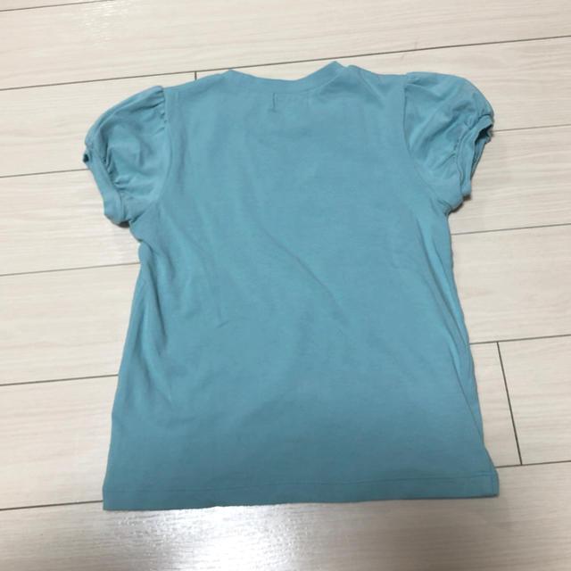 Shirley Temple(シャーリーテンプル)のシャーリーテンプル 水色Tシャツ 120㎝ キッズ/ベビー/マタニティのキッズ服女の子用(90cm~)(Tシャツ/カットソー)の商品写真