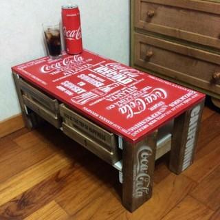 Coca-Colaアンティークデザイン☆ミニテーブル(その他)