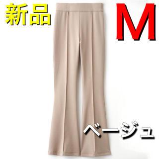 シマムラ(しまむら)の新品 完売 しまむら センタータックパンツ ベージュ M ボトム  即購入(カジュアルパンツ)