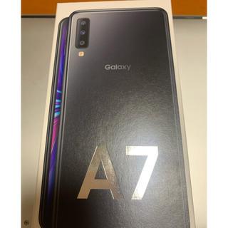 Galaxy - Galaxy A7 ブラック 64GB simフリー・楽天モバイル【ほぼ新品】
