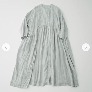 nest Robe - nest robe   リネンフロントオープンギャザーワンピース