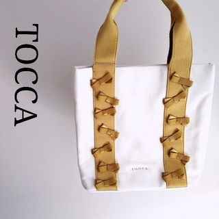 TOCCA - TOCCA  新品 キャンバス 春夏 トートバッグ リボン ハンドバッグ