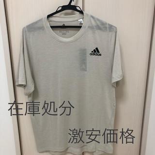 アディダス(adidas)の【新品】adidas アディダス Tシャツ メンズ Lサイズ グレー(Tシャツ/カットソー(半袖/袖なし))