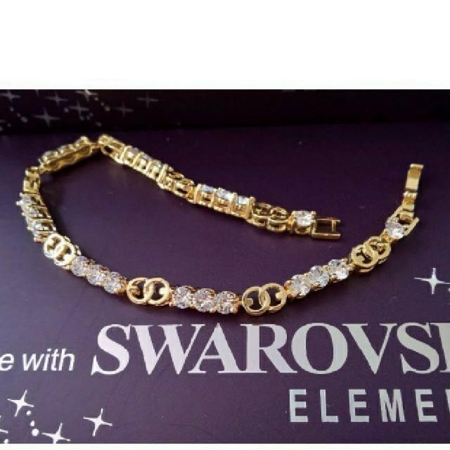 SWAROVSKI(スワロフスキー)のf23🌸パンジー🌸 スワロフスキー エレメンツ ラグジュアリー ブレスレット レディースのアクセサリー(ブレスレット/バングル)の商品写真