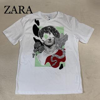 ザラ(ZARA)の新品タグ付 ZARA  メンズ   プリント  Tシャツ  M(Tシャツ/カットソー(半袖/袖なし))