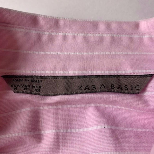 ZARA(ザラ)のZARA  ピンクシャツ レディースのトップス(シャツ/ブラウス(長袖/七分))の商品写真