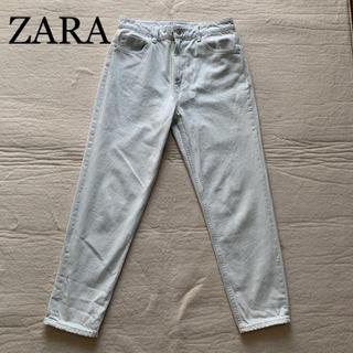 ZARA - 新品 ZARA  涼しげカラー デニムパンツ テーパードデニム
