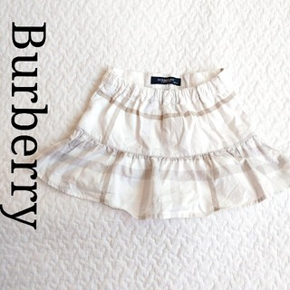 バーバリー(BURBERRY)のバーバリー チェック スカート 80 女のコ 春夏 白 おしゃれ(スカート)