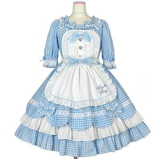 Angelic Pretty - 【新品】Heart CafeワンピースSet(サックス)