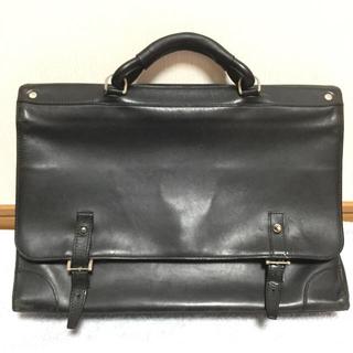 ダンヒル(Dunhill)のダンヒル♡ブリーフケース・ビジネスバッグ♡ブラック黒×本革レザー/会社・書類鞄(ビジネスバッグ)