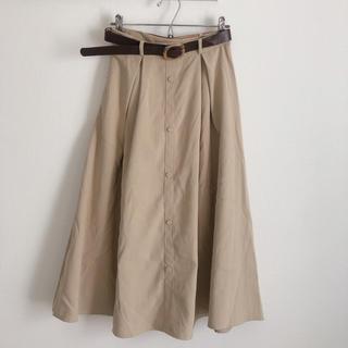 GRL - 【新品未使用】グレイル ベルト付フロントボタン ミモレ丈フレアスカート