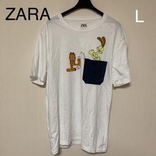 ザラ(ZARA)の新品タグ付 ZARA Tシャツ ガーフィールド L(Tシャツ/カットソー(半袖/袖なし))