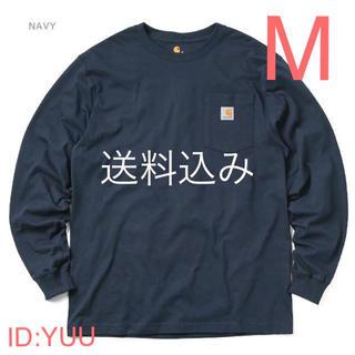 カーハート(carhartt)の【M】CARHARTT カーハート K126 ポケット ロンT ネイビー(Tシャツ/カットソー(七分/長袖))