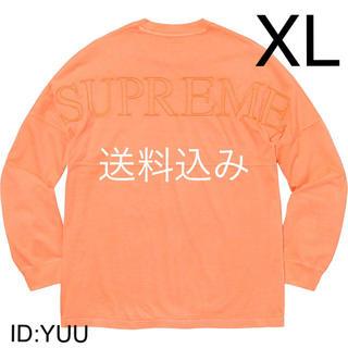 シュプリーム(Supreme)の【XL】SUPREME Overdyed L/S Top ロンT ピーチ(Tシャツ/カットソー(七分/長袖))