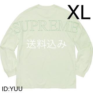 シュプリーム(Supreme)の【XL】SUPREME Overdyed L/S Top ロンT ミント(Tシャツ/カットソー(七分/長袖))