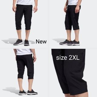 アディダス(adidas)の新品 2XL adidas パンツ 7分丈 トレーニング黒 テーパード(ショートパンツ)