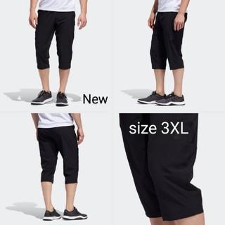 アディダス(adidas)の新品 3XL adidas パンツ 7分丈 トレーニング黒 テーパード(ショートパンツ)