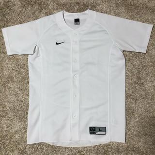 ナイキ(NIKE)のNIKE ベースボールシャツ Lサイズ ホワイト(その他)