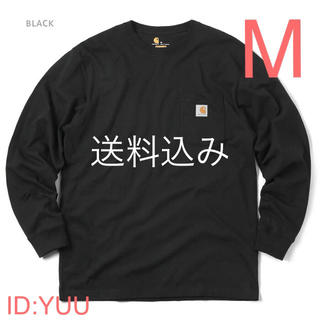 カーハート(carhartt)の【M】CARHARTT カーハート K126 ポケット ロンT 黒(Tシャツ/カットソー(七分/長袖))