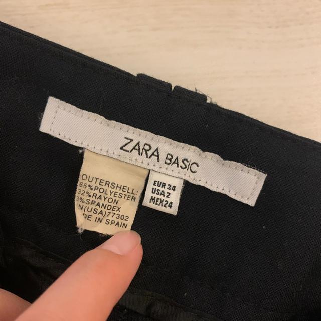 ZARA(ザラ)のZARA ストレートパンツ ブラック 24インチ レディースのパンツ(カジュアルパンツ)の商品写真