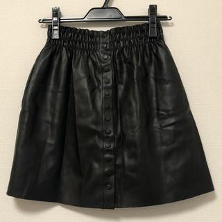 ZARA - ZARA レザースカート