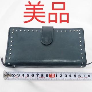 ホワイトハウスコックス(WHITEHOUSE COX)の【美品】ホワイトハウスコックス レザー スタッズ ウォレット 財布(財布)