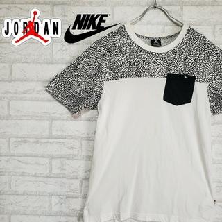 ナイキ(NIKE)のナイキ NIKE×JORDAN デザインTシャツ ポケT ジャンプマン織りタグ(Tシャツ/カットソー(半袖/袖なし))