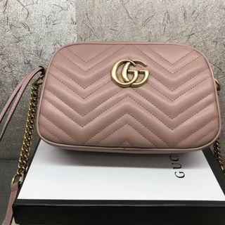 Gucci - GUCCI GGマーモント キルティング ショルダーバッグ