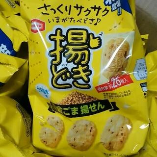 カメダセイカ(亀田製菓)の亀田製菓 揚どき 金ごま揚せん さっくりサクサク!うす塩味(菓子/デザート)