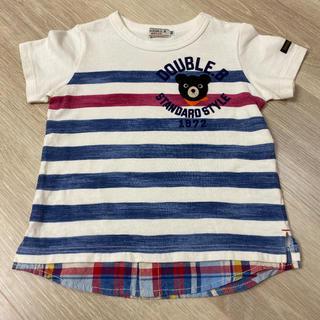 DOUBLE.B - 超美品 ミキハウス ダブルB 半袖 Tシャツ 100 重ね着風 マリン 90