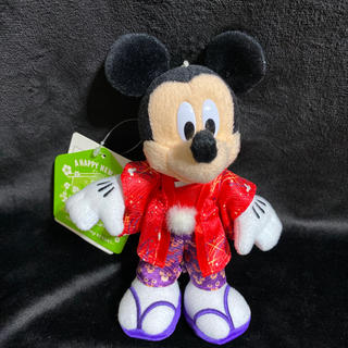 ディズニー(Disney)の新品 ディズニー ぬいば ミッキー ニューイヤー お正月 着物 ぬいぐるみバッチ(ぬいぐるみ)